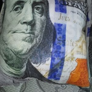 Big Face Hundred Dollar Bill Pillow Cases